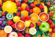 Frutos misturados frescos foto de stock