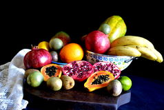 Frutos misturados frescos imagem de stock