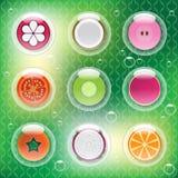 Frutos misturados nas bolhas Imagem de Stock Royalty Free