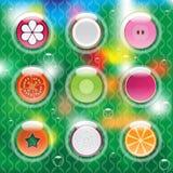 Frutos misturados nas bolhas Imagem de Stock