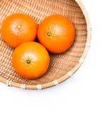 Frutos na cesta Fotografia de Stock