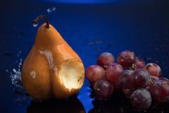 Frutos no azul Fotos de Stock
