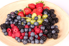Frutos no prato Fotos de Stock
