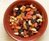 Frutos Nuts e secados Fotografia de Stock Royalty Free