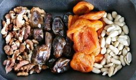 Frutos Nuts e secados Fotografia de Stock