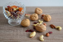 Frutos Nuts e secados Imagens de Stock