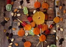 Frutos secados coloridos para o feriado judaico da Turquia Bishvat Foto de Stock Royalty Free