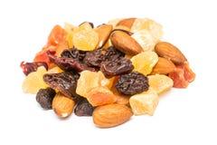 Frutos secados isolados Imagem de Stock