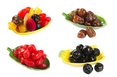 Frutos secados no fundo Imagem de Stock Royalty Free