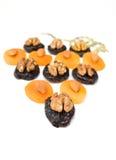 Frutos secos con las tuercas Foto de archivo libre de regalías