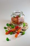 Frutos secos cristalizados da mistura Foto de Stock Royalty Free