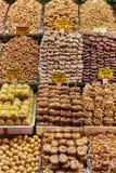 Frutos secos e porcas Foto de Stock Royalty Free