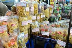 Frutos secos no mercado do Lat da Dinamarca Foto de Stock