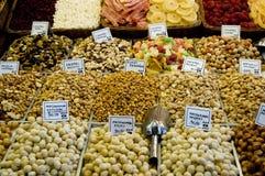 Frutos secos y tuercas Foto de archivo libre de regalías