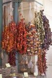 Frutos secos y verduras Fotos de archivo libres de regalías