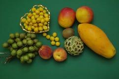 Frutos tropicais exóticos das Honduras lisas da configuração Fotografia de Stock