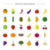 frutos, vegetais ilustração stock