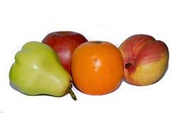 Fruts изолировало на белой предпосылке стоковое изображение