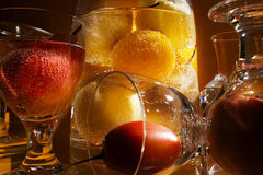 Fruts и стекло Стоковое Фото