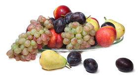 Fruts. Fresh fruts on glass plate royalty free stock images