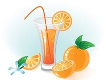 Fruts et boissons oranges Photos libres de droits