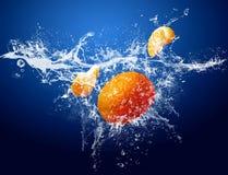 Frutta in acqua Fotografia Stock