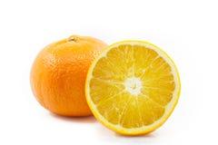 Frutta arancio affettata Immagini Stock Libere da Diritti