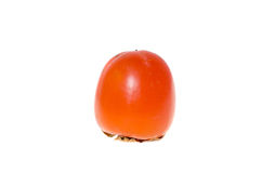 Frutta arancio del cachi su un fondo bianco Fotografia Stock Libera da Diritti