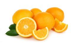 Frutta arancio fresca isolata su fondo bianco Fotografia Stock Libera da Diritti