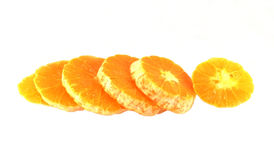 Frutta arancio isolata Immagini Stock
