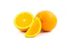 Frutta arancio isolata su fondo bianco Immagine Stock Libera da Diritti