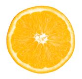 Frutta arancio Isolato arancio della fetta su bianco Con il percorso di ritaglio Immagini Stock Libere da Diritti