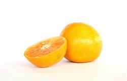 Frutta arancio nel backgroud bianco Fotografia Stock Libera da Diritti