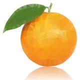 Frutta arancio rossa poligonale insolita realistica La VE moderna Fotografia Stock