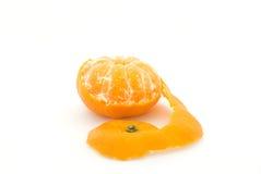 Frutta arancio su bianco Immagine Stock