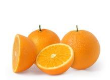 Frutta arancione isolata Fotografia Stock Libera da Diritti