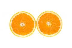 Frutta arancione isolata Fotografie Stock