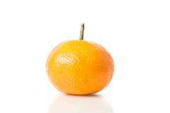 Frutta arancione isolata Immagini Stock Libere da Diritti