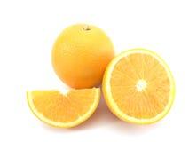 Frutta arancione isolata Immagini Stock