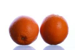 Frutta arancione isolata su bianco Immagini Stock Libere da Diritti
