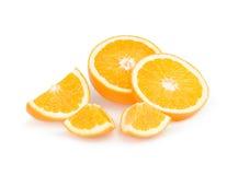 Frutta arancione isolata su priorità bassa bianca Immagini Stock