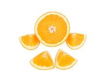 Frutta arancione isolata su priorità bassa bianca Fotografia Stock