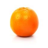 Frutta arancione matura fresca isolata sul bianco Fotografia Stock Libera da Diritti