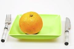 Frutta arancione servente Immagine Stock Libera da Diritti