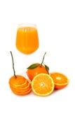 Frutta arancione su priorità bassa bianca Fotografia Stock Libera da Diritti