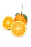 Frutta arancione su priorità bassa bianca Immagine Stock
