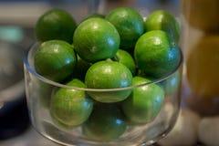 Frutta asiatica del limone in ciotola di vetro Fotografia Stock