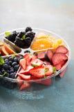 Frutta assortita e bacche su un piatto Immagine Stock Libera da Diritti