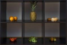 Frutta in caselle Fotografie Stock Libere da Diritti