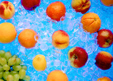 Frutta congelata fresca in ghiaccio fotografia stock